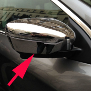 Хром на зеркала с вырезами под повторители для Nissan Murano (2015 - ...)