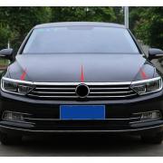 Окантовка капота + хром накладки ресничек для Volkswagen Passat B8 (2015 - ...)