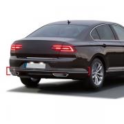 Хром окантовки заднего бампера для Volkswagen Passat B8 (2015 - ...)