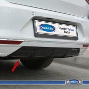 Накладка под задний бампер для Volkswagen Passat B8 (2015 - ...)