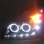 Передние фары, черные, стиль Audi для Toyota Prado 120 (2003 - 2008)