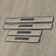 Накладки порогов дверей с подсветкой для Skoda Rapid (2012 - ...)