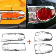 Хром фар и задних фонарей для Toyota FJ Cruiser (2006 - ...)