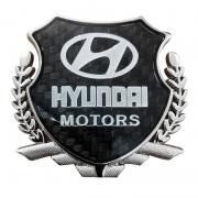 Эмблема герб карбон для Hyundai Santa Fe (2013 - ...)