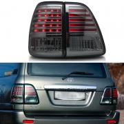 Задняя оптика диодная стиль Lexus хром для Toyota Land Cruiser 100 (98 - 2006)
