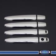 Накладки на ручки дверей с вырезами под чип для Mitsubishi Outlander (2013 - ...)