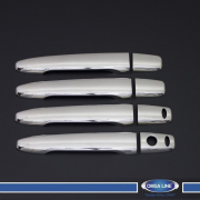 Хром на ручки под чип и ключ для Mitsubishi Lancer X (2007 - ...)