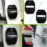 Накладки на замок дверей черные для Mercedes W210 (1995 - 2002)