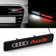 Эмблема неон в решетку радиатора или бампера для Audi A4 (2008 - 2015)