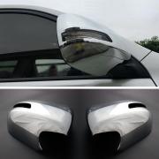 Хром на зеркала цельные с вырезами под повторители для Toyota Prado 150 (2009 - 2017)