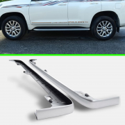 Вставка порога серебристая для Toyota Prado 150 (2009 - 2017)