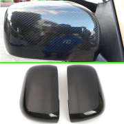 Накладки боковых зеркал под карбон для Mitsubishi Pajero 4 (2007 - ...)