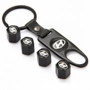 Золотники черные с брелком для Hyundai Santa Fe (2013 - ...)