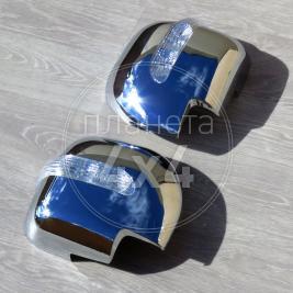 Хром на зеркала ABS пластик Mitsubishi Pajero 3 (2000 - 2006)