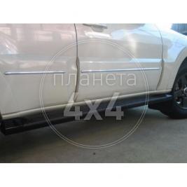 Молдинги дверей хром Mitsubishi Pajero 4 (2007 - ...)