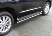 Трубки под пороги для Toyota Land Cruiser 200 (2007 - ...)