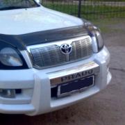 Накладка на решетку радиатора для Toyota Prado 120 (2003 - 2008)