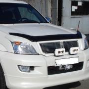 Дефлектор капота (мухобойка) для Toyota Prado 120 (2003 - 2008)