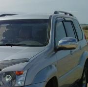 Хром накладки на зеркала (с повторителями) для Toyota Prado 120 (2003 - 2008)