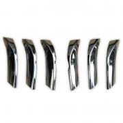 Хром накладки на решетку радиатора для Toyota Prado 150 (2009 - 2017)