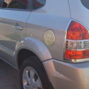 Хром на люк бензобака для Hyundai Tucson (2004 - 2014)