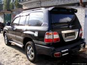 Хром накладка под номер с планкой багажника для Toyota Land Cruiser 100 (98 - 2006)