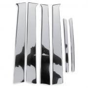 Хромированные накладки на стойки дверей для Kia Sorento (2003 - 2009)