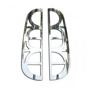 Хром накладки на задние фонари (2006 - 2009) для Fiat Doblo (2001 - 2009)