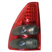 Задние фонари диодные, темные для Toyota Prado 120 (2003 - 2008)
