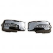 Хром накладки на зеркала с повторителями поворотников для Mitsubishi Lancer IХ (2003 - 2006)