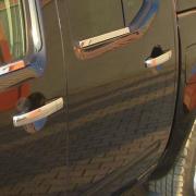 Хром накладки на ручки дверей для Nissan Navara (2005 - 2014)