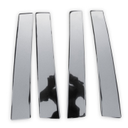Хром на стойки дверей для Nissan Qashqai (2007 - 2014)