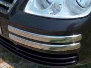 Хром молдинг углов переднего бампера для Volkswagen Caddy (2004 - 2010)
