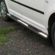 Боковые пороги (трубы) для Volkswagen Caddy (2004 - 2010)