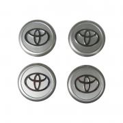 Колпачки в диски хром (или серебро) для Toyota Auris (2007 - 2012)