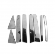 Хром накладки дверных стоек для Kia Sorento (2010 - 2015)