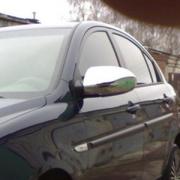 Хромированные накладки на зеркала для Hyundai Accent (2006 - 2010)