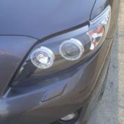 Передние фары (темные) для Toyota Corolla (2007 - 2012)