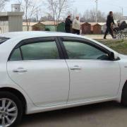 Хром на нижние молдинги стекол для Toyota Corolla (2007 - 2012)