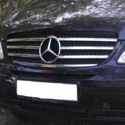 Хром накладки на решетку радиатора для Mercedes Vito Viano (2004 - 2014)