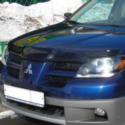 Мухобойка (дефлектор капота) для Mitsubishi Outlander (2003 - 2006)