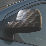 Накладки на зеркала (карбон) для Volkswagen Transporter T5 (2004 - 2009)