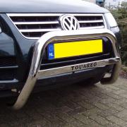 Кенгурятник с лого для Volkswagen Touareg (2002 - 2010)
