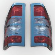 Хром накладки на задние фонари для Mercedes Sprinter (2000 - 2006)