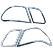 Хром накладки на задние фонари для Mercedes W210 (1995 - 2002)