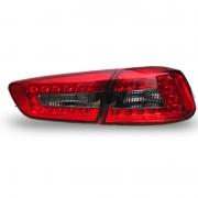 Фонари задние диодные (темные) для Mitsubishi Lancer X (2007 - ...)