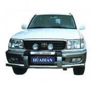 Накладка на передний бампер для Toyota Land Cruiser 100 (98 - 2006)