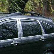 Хром на стойки дверей для Honda CR-V (2007 - 2012)