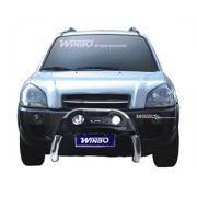Кенгурятник с доп. фарами для Hyundai Tucson (2004 - 2014)