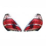 Хром задних фонарей для Toyota RAV4 (2006 - 2012)
